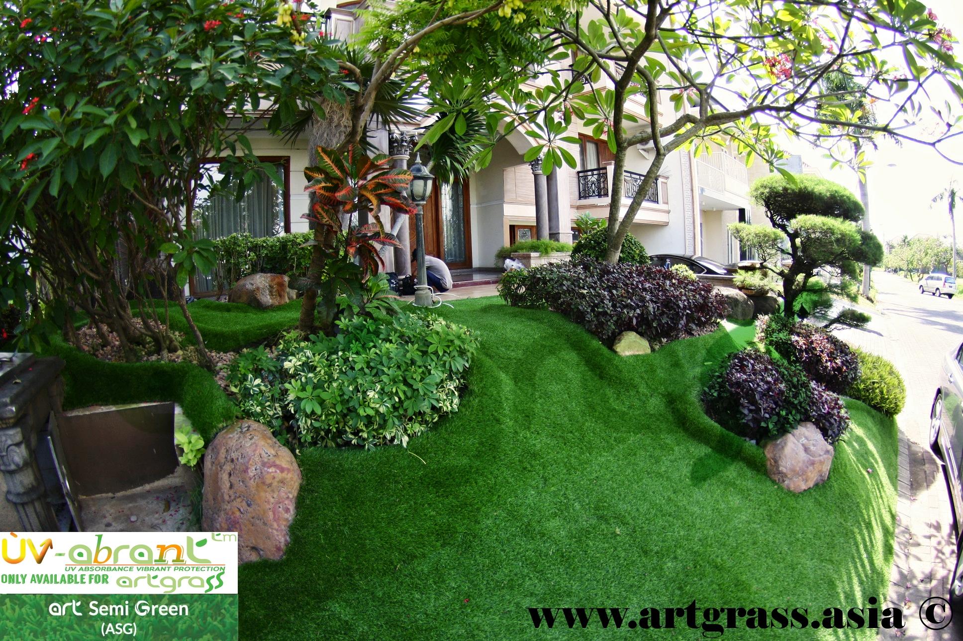 rumput sintetik Rumput Sintetis Taman Dekorasi Berbeda